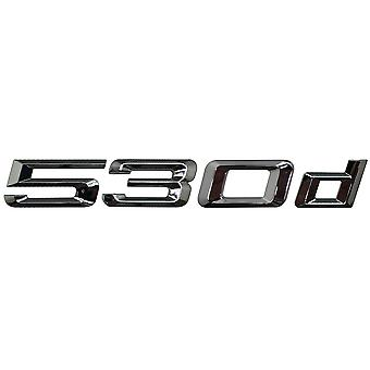 Silver Chrome BMW 550i Car Model Rear Boot Number Letter Sticker Decal Badge Emblem For 5 Series E93 E60 E61 F10 F11 F07 F18 G30 G31 G38