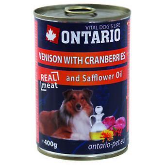 Ontario hund hjort/tranbär/safflorolja (hundar, hundmat, våt mat)