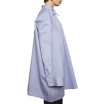 Acne Studios Ac0210aqo Women's Light Blue Cotton Shirt