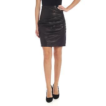 P.a.r.o.s.h. D630531013 Dames's Zwart Lederen Rok