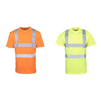 RTY hoge zichtbaarheid Mens High Vis T-Shirt