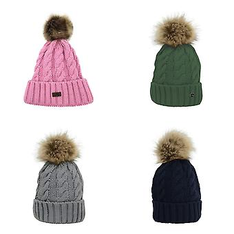 HyFASHION Adults Melrose Cable Knit Bobble Hat