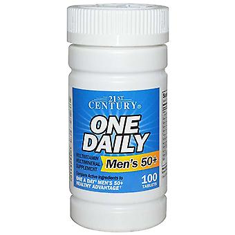 21st century one daily, men's 50+, multivitamin, tablets, 100 ea