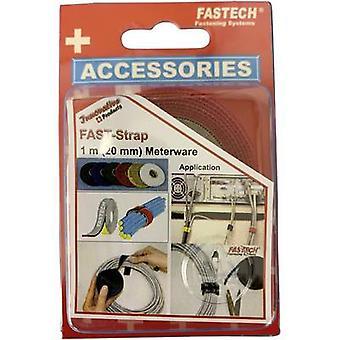 FASTECH® 910-530C Fita de gancho e loop para agrupar gancho e almofada de loop (L x W) 1000 mm x 20 mm Vermelho 1 m