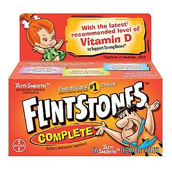 Flintstones Kinder complete multivitamine tabletten, smakelijke vruchten, 60 ea