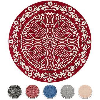 Carpet Boss Design ShortFlor Rug Mandalay Circles Round