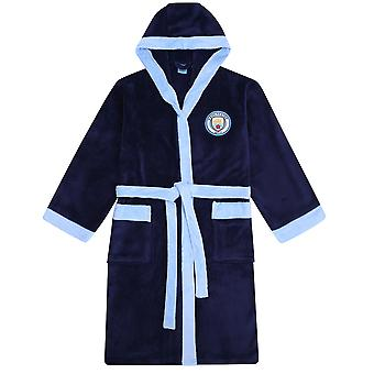 Manchester City FC Oficial de Futebol Presente Mens Hooded Fleece Robe