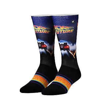 Back to the Future Back in Time Sublimated 360 Crew Socks