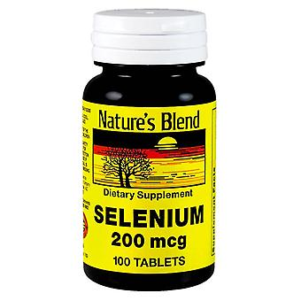 Nature's blend selenium, 200 mcg, tablets, 100 ea