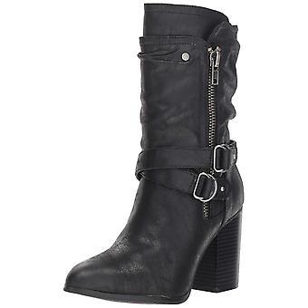 Carlos by Carlos Santana Womens Paisley Pointed Toe Mid-Calf Fashion Boots