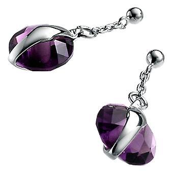 Ladies' Øreringe Vicekonge 1010E000-50 Silver Purple (2 Cm)