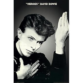 David Bowie Poster Heroes 91.5 x 61 cm