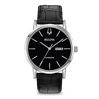 Bulova 96C131 Men's Black Strap With Day/Date Wristwatch