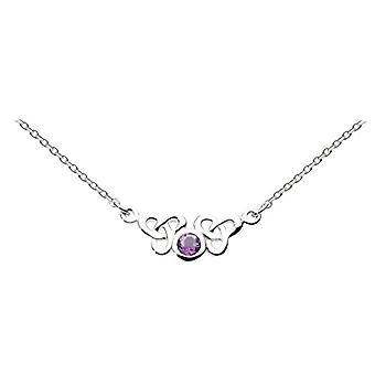 Heritage 9288AM - Chain with women's pendant with amethyst - sterling silver 925 - 460 mm