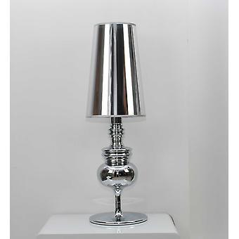 "7 ""x 7"" x 22 ""כסף פחמן פלדה מנורה שולחן"