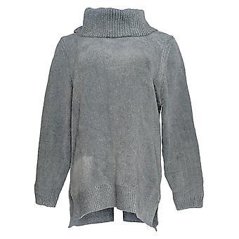 Appleseed's Women's Sweater Long Sleeve Turtleneck Blue
