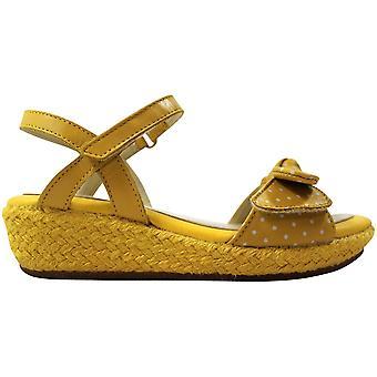 Clarks Harpy Rita Yellow Leather 26107467 Pre-School