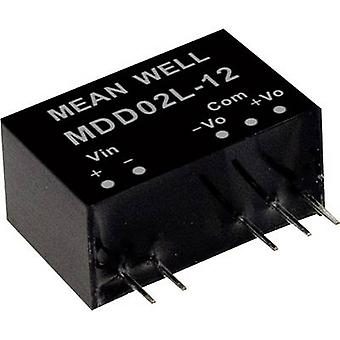 Mean Well MDD02L-15 DC/DC converter (module) 67 mA 2 W No. of outputs: 2 x