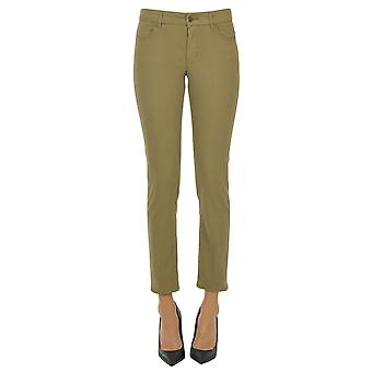 Atelier Cigala's Ezgl457010 Women's Green Cotton Pants
