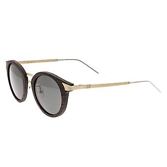 Earth Wood Zale Polarized Sunglasses - Ebony/Black