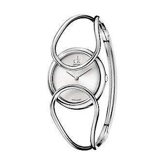 Calvin Klein K4C2M116 Inclined Silver Dial Bangle Ladies Watch