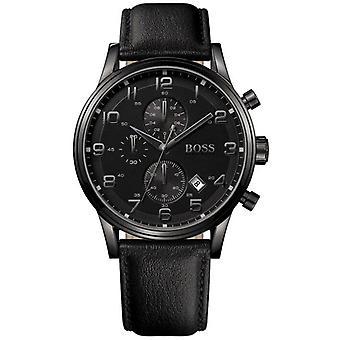 Hugo Boss 1512567 Chronograph Quartz with Leather Strap Men's Watch