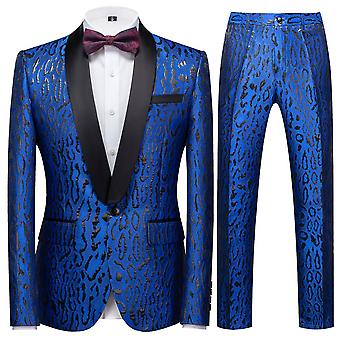 Allthemen Men's Banquet 2Pcs Suits Blazer&Plants