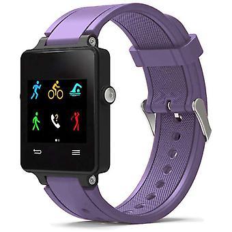 Horlogeband gemaakt door strapsco voor garmin vivoactive paarse siliconen horlogeband sportstijl
