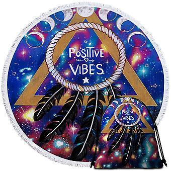 Positive Vibes Dream Catcher Beach Towel