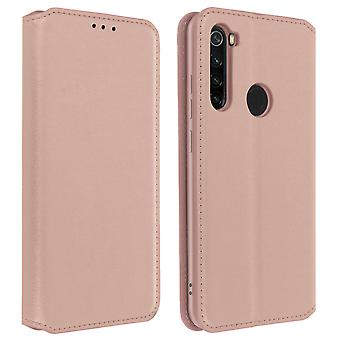 Xiaomi Redmi Note 8 Folio Case with Wallet Function - Rose Gold