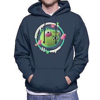 Angry Birds Pig 3D Badge Miesten&s Hupullinen Collegepaita