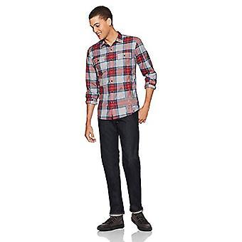 Marka - Goodthreads Men&s Standard-Fit Koszula twill w kratę z długim rękawem, ...