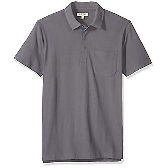 Goodthreads Men's Polo In sueded a maniche corte Polo, Grigio scuro, XXX-Large