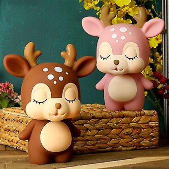 Cute Creative Deer Piggy Bank Cartoon Coin Piggy Bank - Adorable Coin Money Box