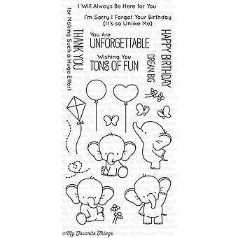 """Moje ulubione rzeczy Birdie Brown Stamps 4""""X8"""" - Urocze słonie"""