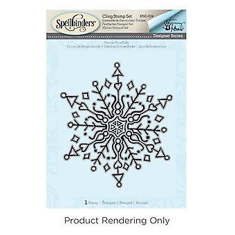 Spellbinders 3D Shading Stamps - Doodle Snowflake