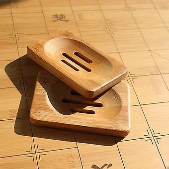 Eco-vriendelijke natuurlijke bamboe houten zeepbak - Badkamer Douche Zeepschaal Dish