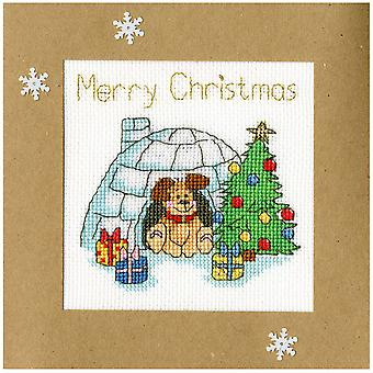 Bothy Threads cross stitch kortti kit - talvi woof