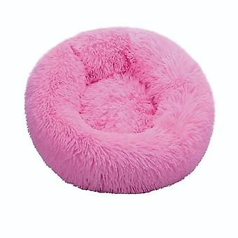 Round Cat Bed House Soft Long Plush Best  Bed For Dogs Basket, Pet Products