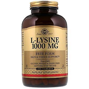 Solgar, L-Lysine, Free Form, 1,000 mg, 250 Tablets