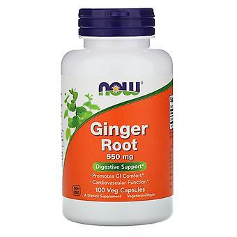 Maintenant aliments, racine de gingembre, 550 mg, 100 capsules de légumes