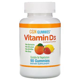 California Gold Nutrition, Vitamin D3 Gummies, No Gelatin, No Gluten, Mixed Berr