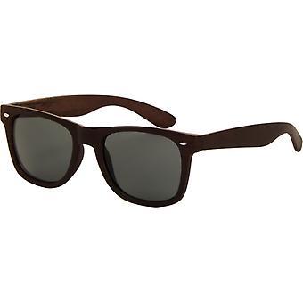 Sunglasses Unisex wooden look dark brown (AZB-042 P)