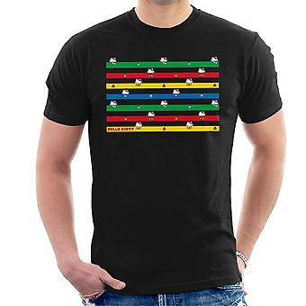 Hello Kitty Monivärinen Montage Miehet's T-paita