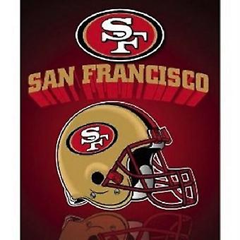 "San Francisco 49ers NFL Northwest ""Mirror"" Fleece Throw"
