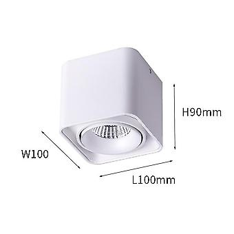 Arc Surface Mounted Led Spotlight - Ac 220v To 240v Adjustable Square Ceiling Spot Lamp