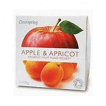 Clearspring - Fruit Puree Apple & Apricot 2 X 100g