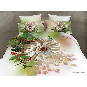 Floral Bedding 3d Flowers Printed Polyester, Cover Bed Sheet With Pillow Covers