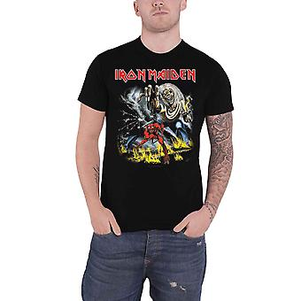 Iron Maiden T Shirt Number of the Beast Band Logo novo Official Mens Black