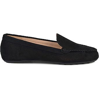 Journee Collection Women's Shoes Halsey Suede Round Toe Loafers